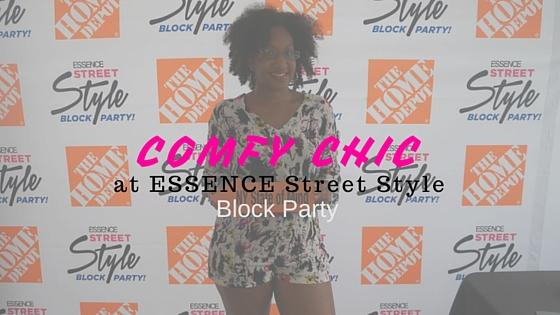 Comfy Chic at ESSENCE Street Style Block Party